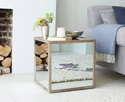cube mirror side table boomtown side table mirrored side table loaf
