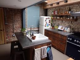 floor small kitchen design stainlesss steel countertop woden