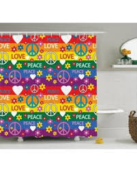 Heart Bathroom Accessories Find The Best Deals On Groovy Decorations Shower Curtain Set