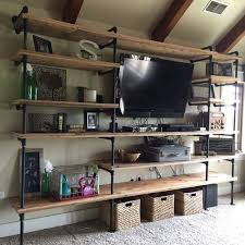 Free Standing Garage Shelves Plans by Best 25 Pipe Shelves Ideas On Pinterest Industrial Shelving