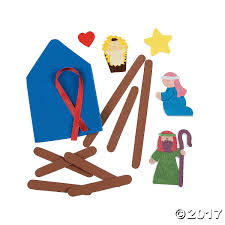 nativity craft stick religious ornament craft kit