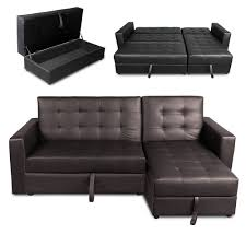 corner lounge with sofa bed chaise form corner leather sofa 3 seater pull out bed chaise brown color