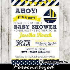 nautical baby shower invitations yellow and blue nautical baby shower package instant