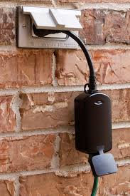 ge outdoor lighting control ge z wave wireless lighting control outdoor module plug in dimmer