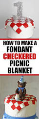 How To Draw A Picnic Table How To Make A Fondant Checkered Blanket Rose Bakes