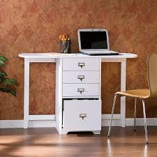 Small Craft Desk Small Craft Desk Storage Wood Construction White Color 3 Shelves