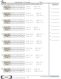 patterns u0026 function machine worksheets