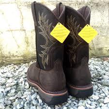 ariat mens workhog wide sq toe bruin brown work boots 10017436
