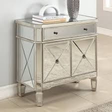 Narrow Accent Table by Furniture Mirrored Bedside Tables Mirrored Side Table
