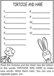 lesson plans the tortoise and the hare speakaboos worksheets