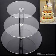 cheap cake stand 3 tier acrylic cupcake stand transparent cake tower rack holder