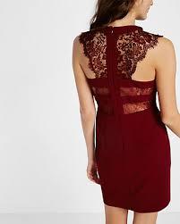 express dress sleeveless lace yoke dress blue women s 14 clothes