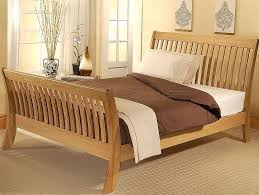 Oak Bed Frame Cordelia Oak Sleigh Bed Frame Half Price Bedz