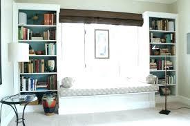 built in window seat window seat bookshelf best custom bookshelves ideas on built in