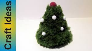 christmas tree with pompoms diy youtube