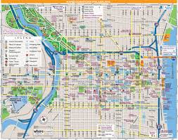 Pennsylvania Cities Map by Philadelphia Downtown Map City Center U2022 Mapsof Net