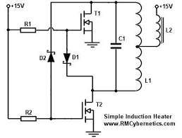 simple induction heater circuit induction heating pinterest
