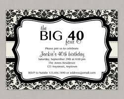 40th birthday party invitations theruntime com