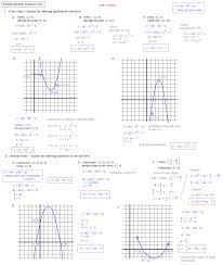 transformations of quadratic functions worksheet worksheets