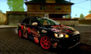 lancer mitsubishi 2008 released 2008 mitsubishi lancer evo x akame ga kill itasha