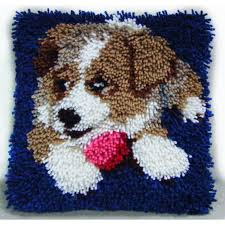 hobbycraft puppy latch hook kit 30cm hobbycraft