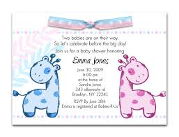 twin baby shower invitations invitations templates