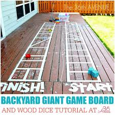 Backyard Activities For Kids Kid Activities Backyard Giant Game Board The 36th Avenue