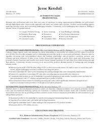 Salesman Resume Sles car salesman resume sle 2
