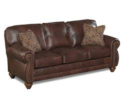 The Best Leather Sofas Best Home Furnishings Noble Stationary Leather Sofa With Nailhead