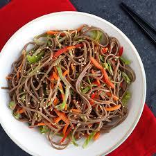 noodle salad recipes cold soba noodle salad recipe simply asia