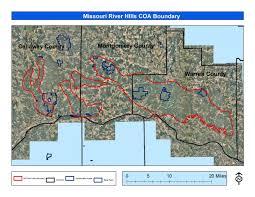 Map Of Missouri River Missouri River Hills Coa Maps