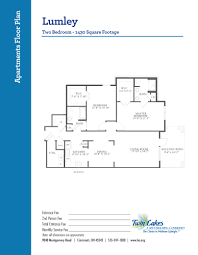 floor plans for two bedroom homes apartment homes at twin lakes senior living community life