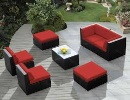 Resin Wood Outdoor Furniture by Outdoor U0026 Garden Cool Black And Red Outdoor Deck Furniture Ideas