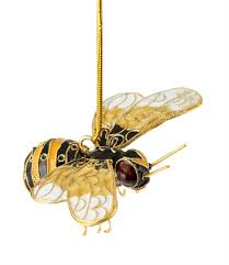 cloisonne bumble bee ornament