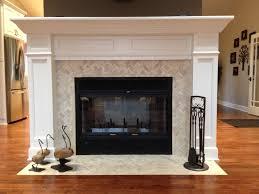 fireplace best herringbone tile fireplace style home design