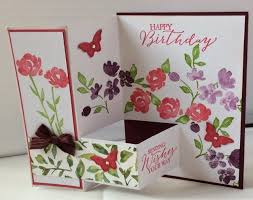 s craft room fancy fold painted petals card and sheltering tree