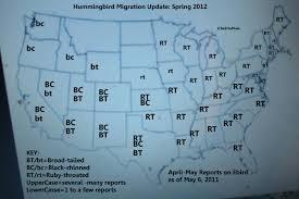 Hummingbird Migration Map Spring Hummingbird Migration Update May 7 2012 Birds And Blooms