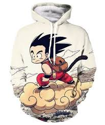 goku and master roshi 3d print hooded sweatshirts anime dragon