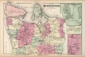 Suffolk County Free Map Free Print Of Antique Map Of Huntington Suffolk County On Matte Paper