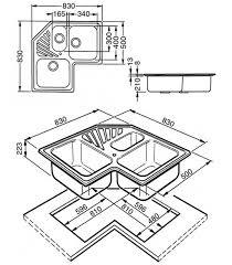 lavello angolare lavello angolare a 3 vasche da cucina in acciaio inox smeg sp3a