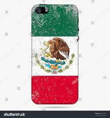 phone case grunge flag mexico vector stock vector 640199776