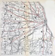 Chicago Red Line Map by Pioneer Highways
