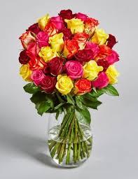 flowers bouquet classic roses multicolour m s