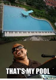 Stevie Wonder Memes - stevie wonder s pool by bluxar meme center