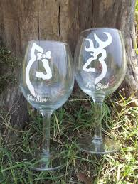 his hers wine glasses decor buck his doe deer wine glasses 2421366 weddbook