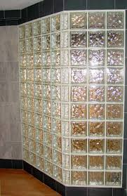 decorations lovely glass block divider design in master bathroom