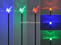 Solar Garden Decoration Light Multi Color Led L Acrylic Dragonfly