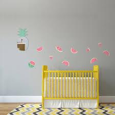 frise chambre bébé frise stickers pastèques pour la décoration murale