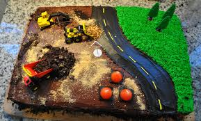 construction cake ideas how to make a construction site cake with step by step