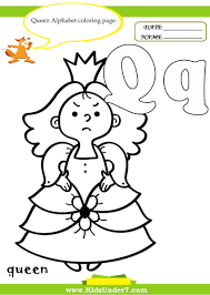 kids under 7 letter q worksheets and coloring pages